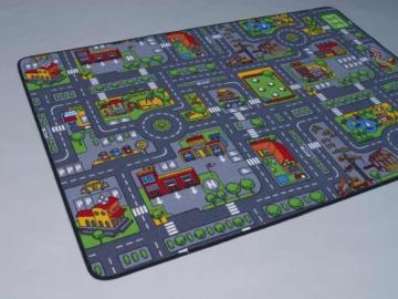 Duo Play HEVO ® Teppich | Kinderteppich | Spielteppich Wendeteppich 95x200 cm -