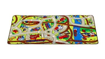 Learning Carpets LC142 Kinderteppich | Spielteppich Zugnetz 95x200cm -