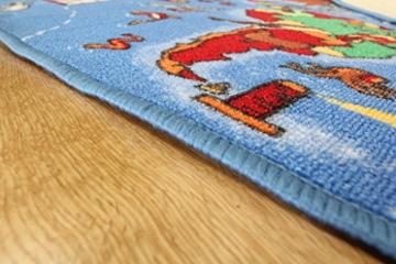 Lehrreiche UNTERHALTSAME farbenfrohe Weltkarte Spielteppich Länder & Meere Kinderteppich 95x200cm -